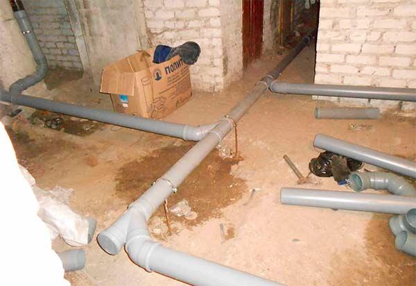 готовая канализация из пластиковых труб