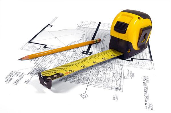 фото рулетки и карандаша для расчета материалов
