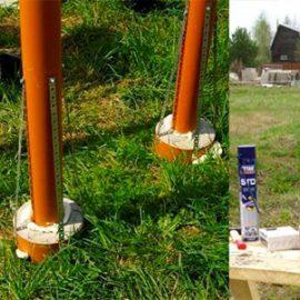 Секреты правильного строительства столбчатого фундамента из пластиковых труб
